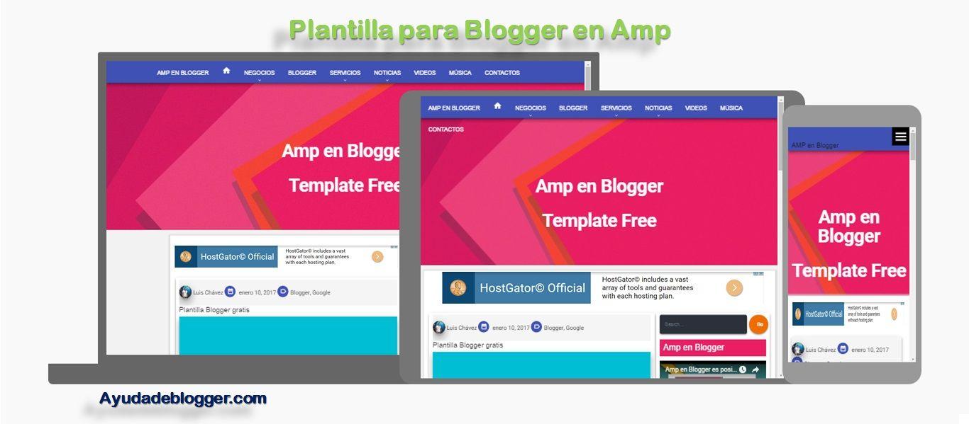 Plantilla para Blogger en Amp   Ayudadeblogger   Pinterest