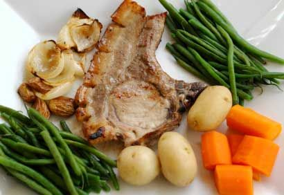 C telettes de porc et pommes de terre temps de cuisson 30 minutes recettes porc pinterest - Temps cuisson pomme de terre raclette ...
