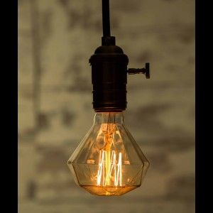 Vintage Antieke Interieur Verlichting | Edison Line Vintage 40W E27 Decoratie Lamp Diamant AL028