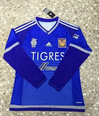 ef624a0e708 2016-2017 Mexico Club Tigers Blue Long Sleeves Thailand Soccer Jersey