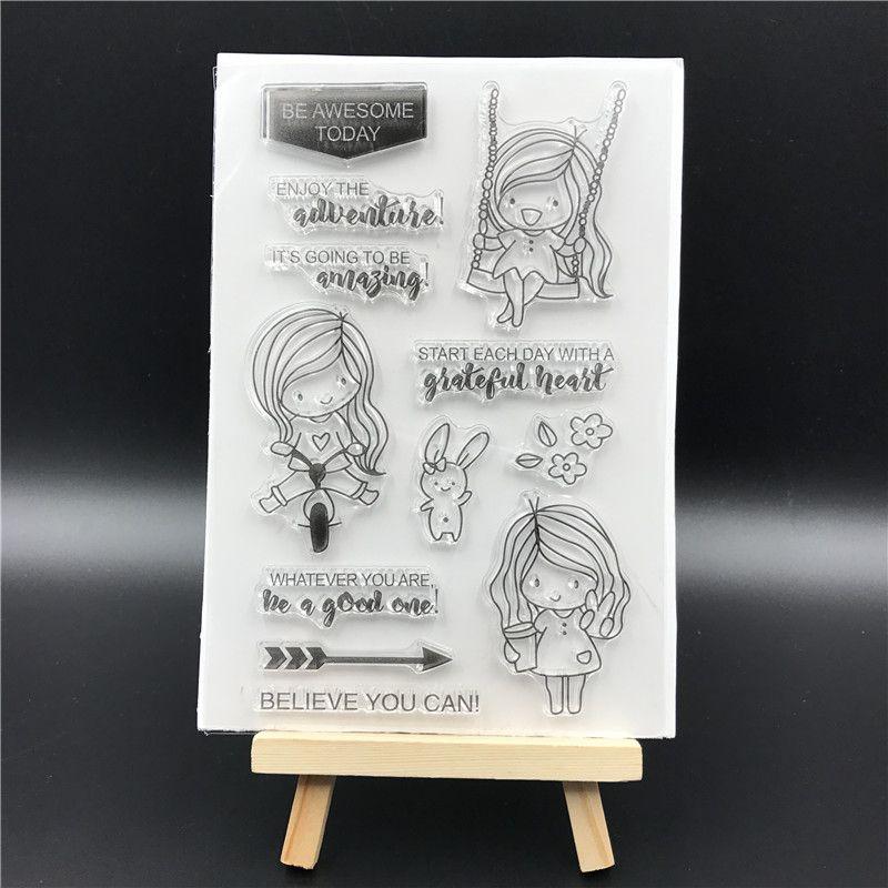 Chica Transparente De Silicona Sello Junta Para Diy Scrapbooking Album Decorativo Claro Hojas De Estampillas A617 Sewing Crafts Crafts Grateful Heart