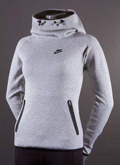 20f8c2753631 Nike Womens Tech Fleece Hoody - Womens Select Clothing - Dark Grey  Heather-Black