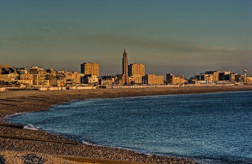9122- Panorama Le Havre sea side
