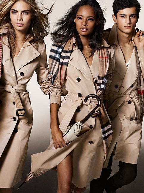 12d931b0571d The Burberry Autumn Winter 2014 campaign with a dynamic cast of young  British talent including Cara Delevingne