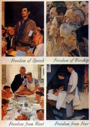 Four Freedoms Four Freedoms Norman Rockwell Art Norman Rockwell Paintings