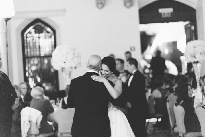 Bride dances with her father at the Castle on the Hudson in Tarrytown, NY. Captured by NYC wedding photographer Ben Lau.