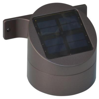 Moonrays Solar Bronze Integrated Led Sconce Deck Light 91851 The Home Depot Solar Powered Deck Lights Deck Lighting Solar Deck Lights