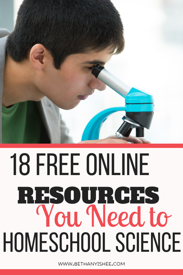 Online Homeschool Science Resourse You Need to Include in ...