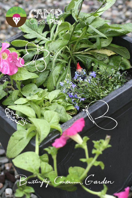 Butterfly Container Garden Camp Classic Play Project