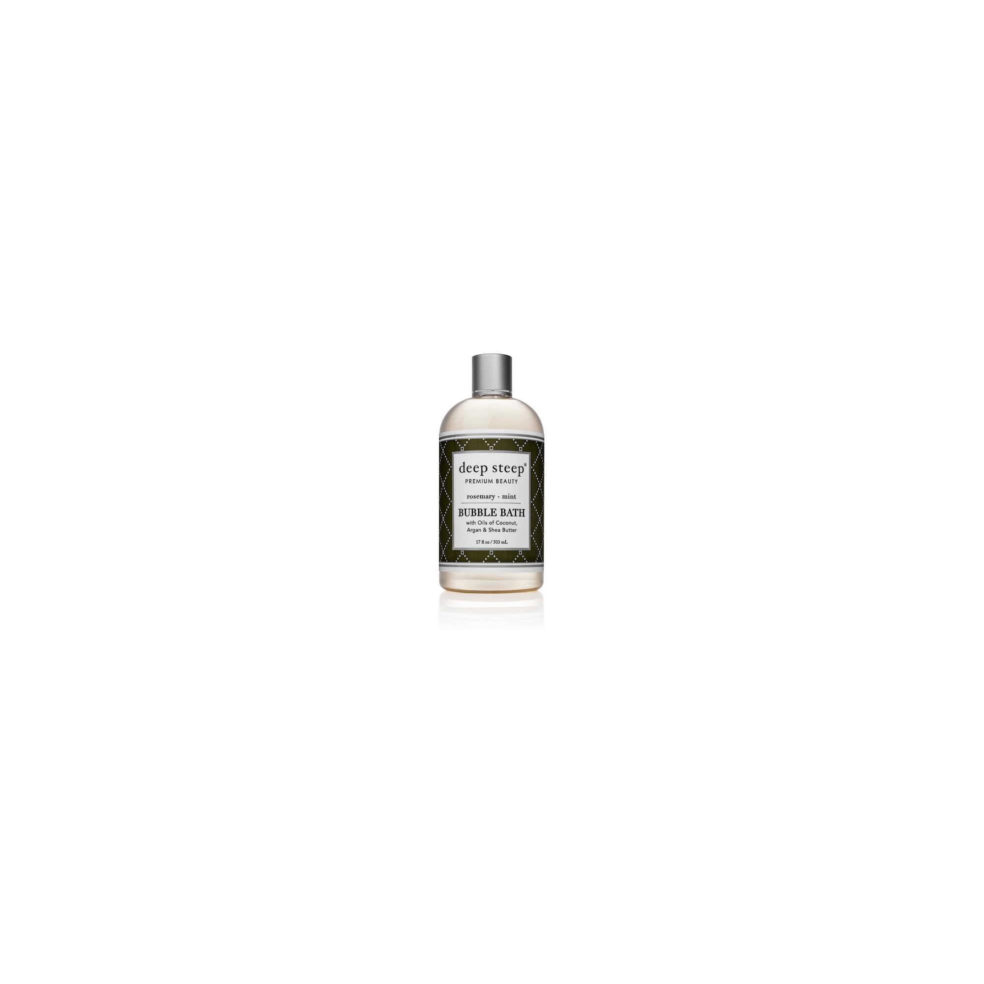 Deep Steep Rosemary Mint Bubble Bath 17 Fl Oz Body Cleanser