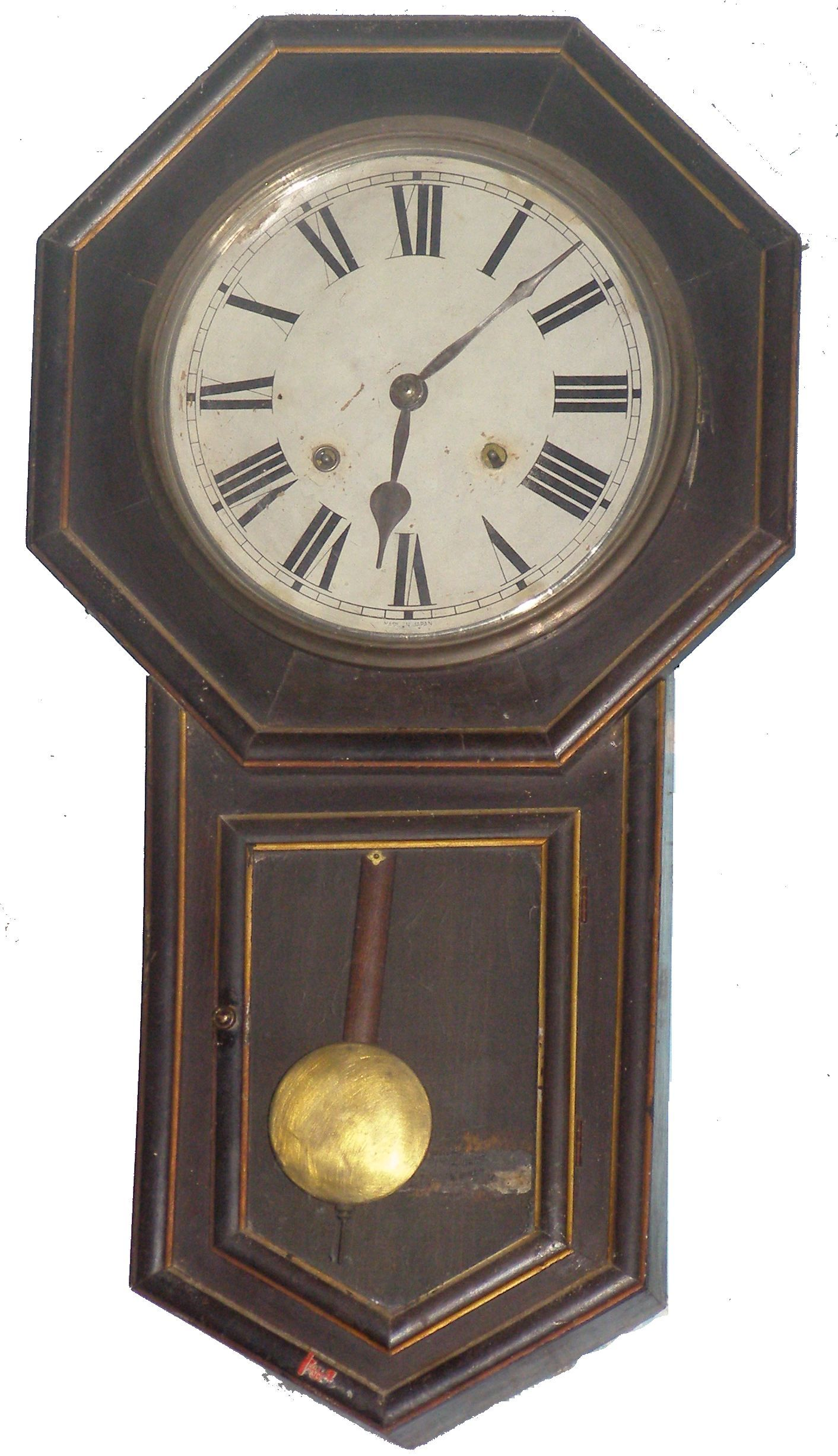 Old Pendulum Clock Jpg 1412 2451 Clocks Antique Wall