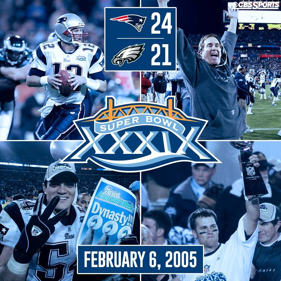 Ten Years Ago Today The New England Patriots Defeated The Philadelphia Eagles In Super Bowl Xxxix The Mv New England Patriots Super Bowl Philadelphia Eagles
