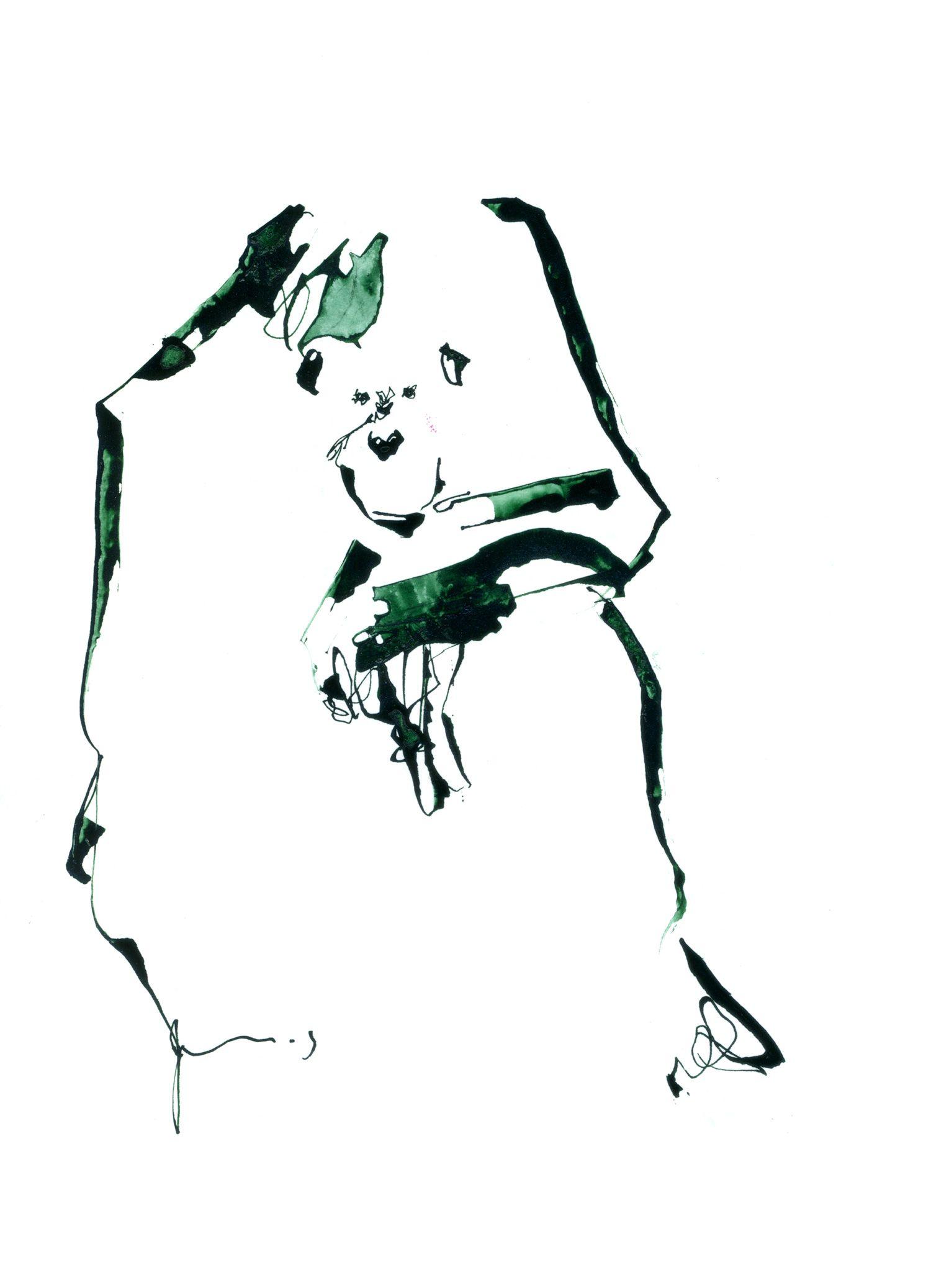 chimpanzee 「chimpanzee:tama zoo」 pen,ink #イラスト #サル #アート