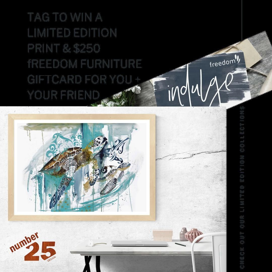 "Number25 on Instagram: ""TAG TO WIN A LIMITED EDITION PRINT & $250 FREEDOM FURNITURE GIFT CARD FOR YOU + YOUR FRIEND⁣ ⁣ -⁣ ⁣ HOW TO PARTICIPATE⁣ ⁣ 1) Follow…"""