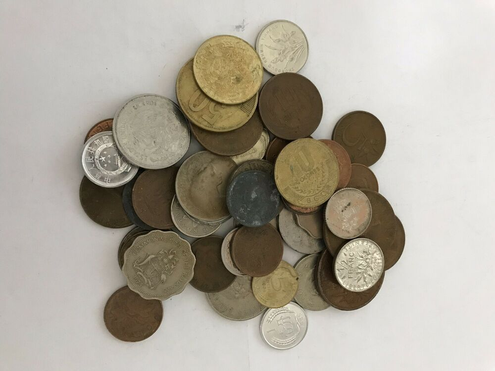 FOREIGN COIN BLOWOUT: One Half Pound Foreign Coins Wheat Penny Bonus