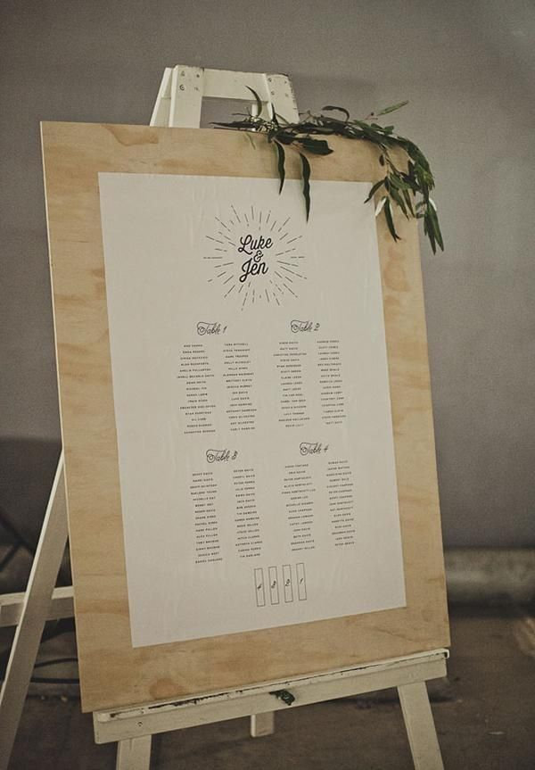 Ashesive vinyl seating chart on large vintage easel also stylish charts to greet your reception guests decor rh pinterest
