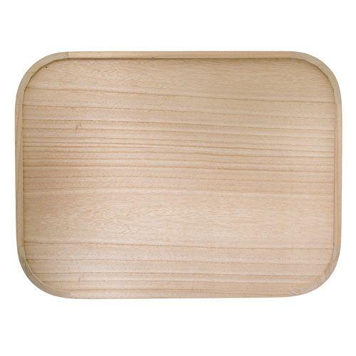 plateau rectangulaire en bois de paulownia naturel. Black Bedroom Furniture Sets. Home Design Ideas