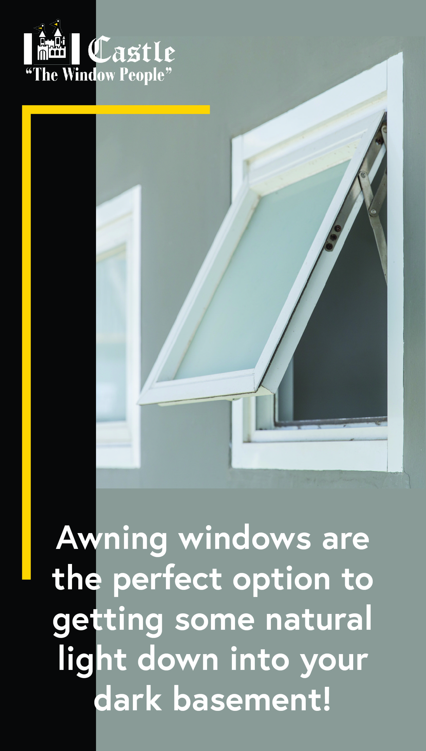 Awning Windows Are The Perfect Option To Getting Some Natural Light Down Into Your Dark Basement Solution Solutions Awning Windows Downlights Dark Basement