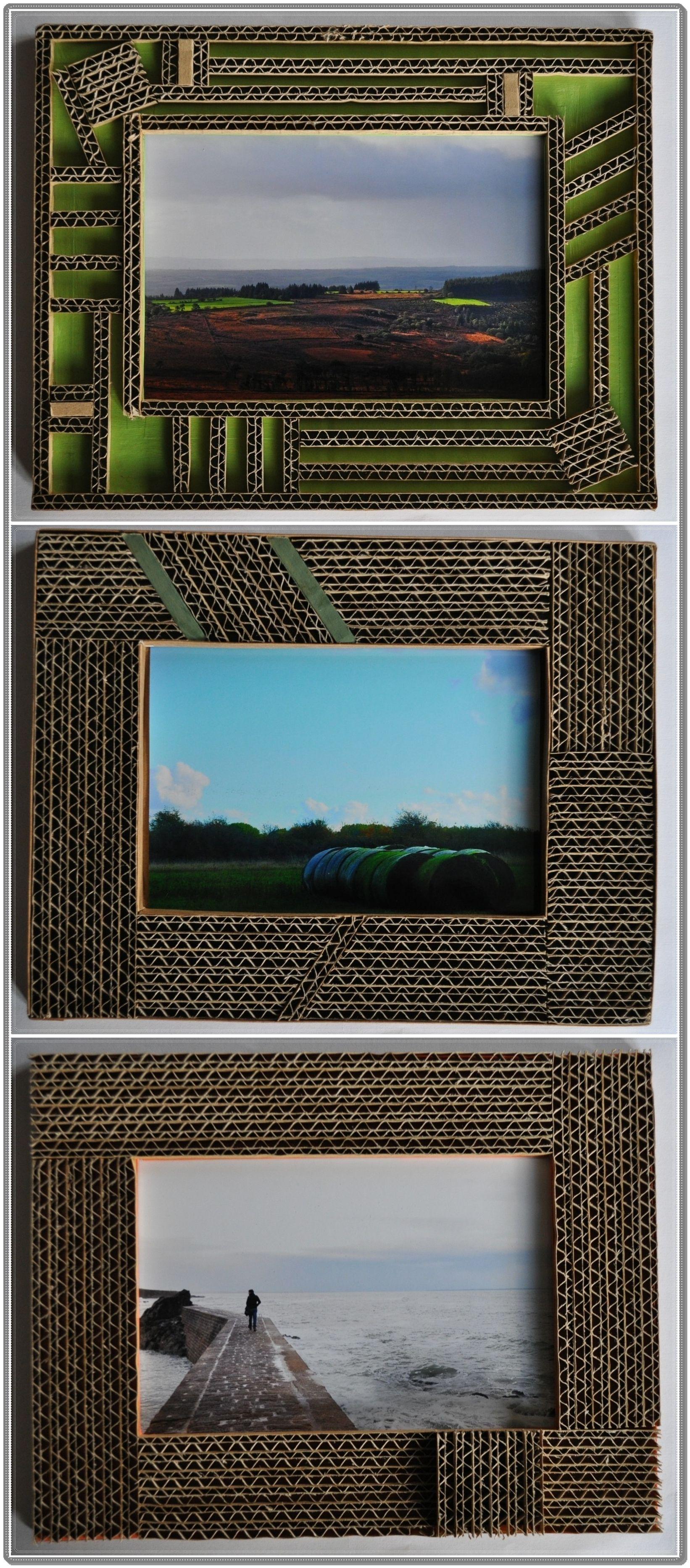 cadre en carton - dentelle #1 | bricolages | Pinterest ...
