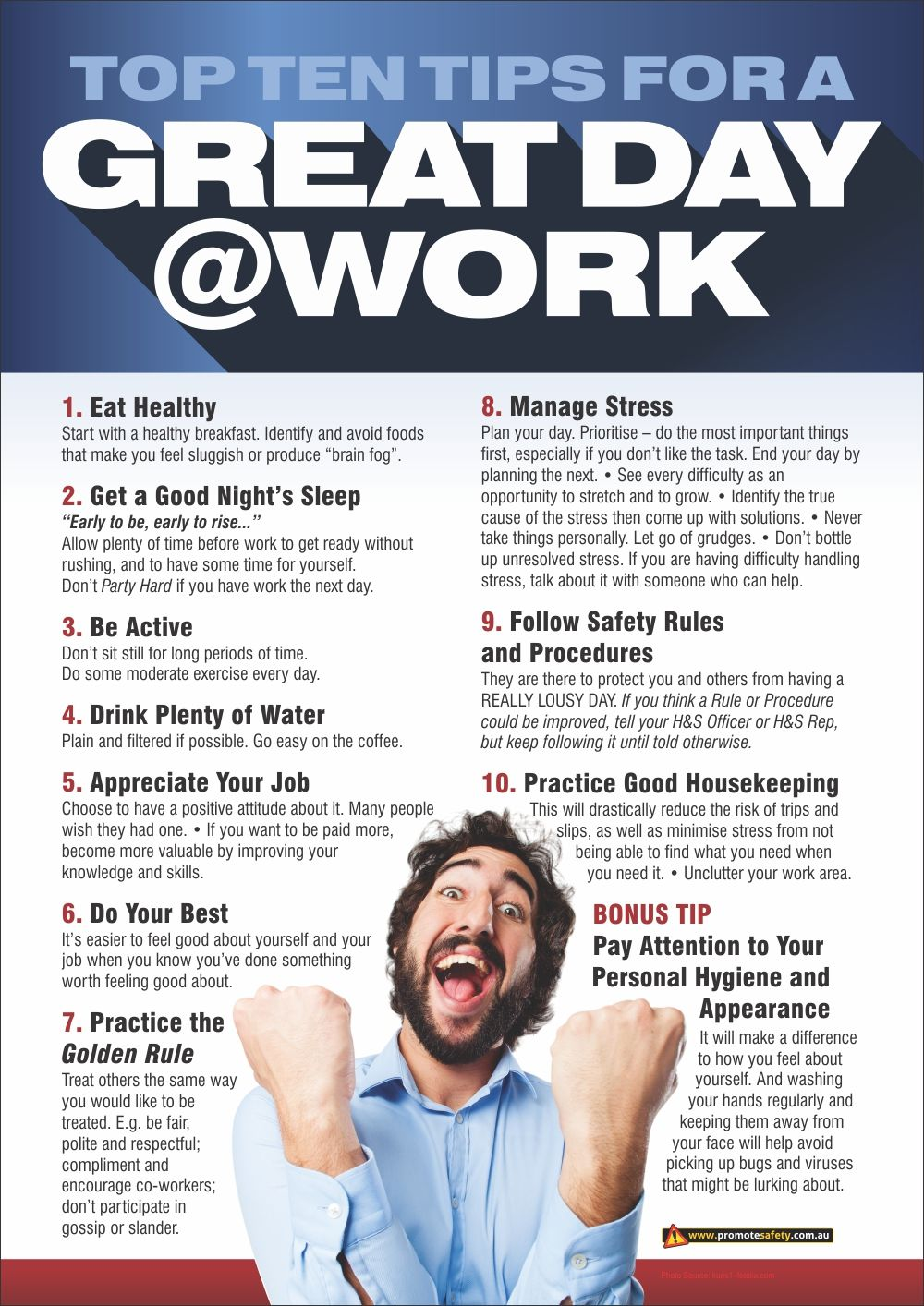 Workplace Health & Safety poster about wellness in the ...