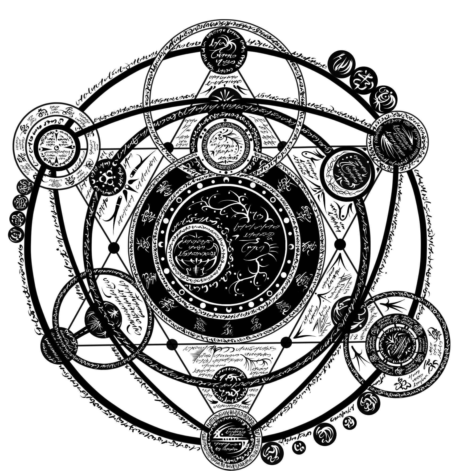 magical crest stuff for the writing magic symbols