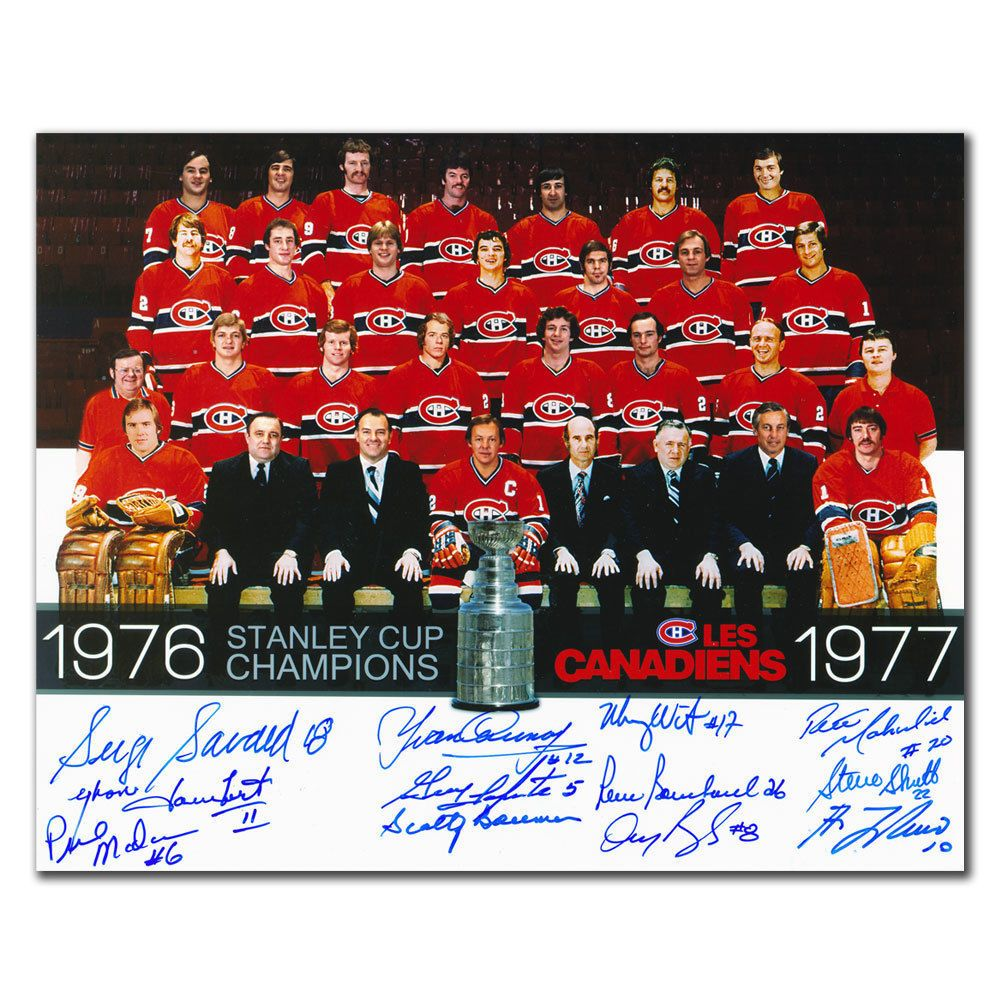 1976 1977 MONTREAL CANADIENS STANLEY CUP CHAMPIONS