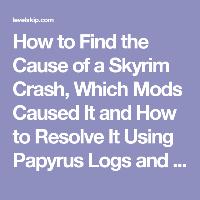 skyrim crash logs