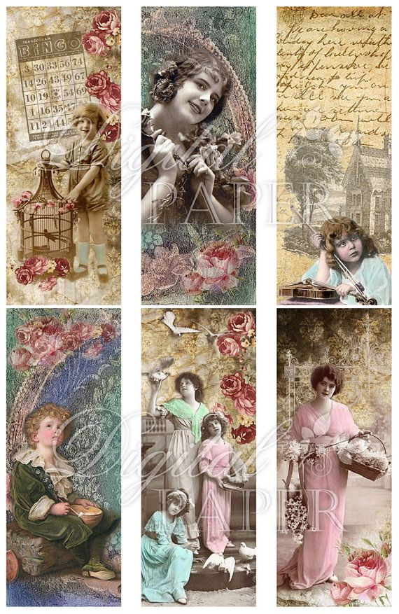 Bookmarks Tags Vintage French Women 5