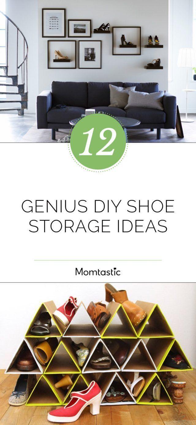 12 Genius DIY Shoe Storage Ideas #DIY #Genius #Ideas #Schuhschrankdiy #Shoe