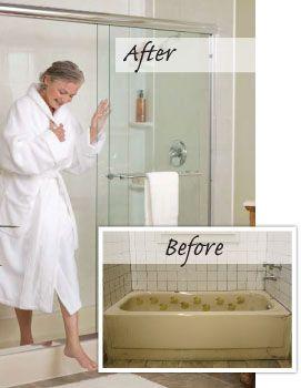 Turn Bathtub Into Walk In Shower Converting