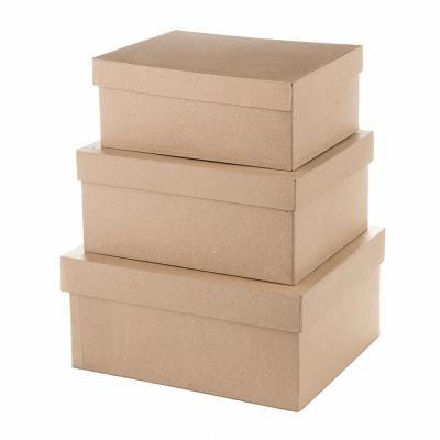 Darice Paper Mache Rectangle Box Set (3-Piece)   Card box ...