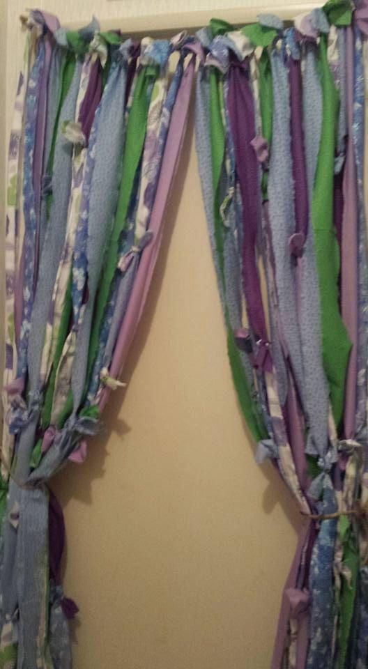Boho Rag Curtains With Beads Hippie Style By YaYaHippieEmporium
