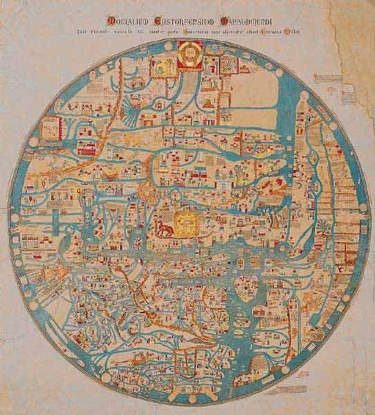Mappemonde D Ebstorf Original De 1239 Detruit En 1943 Fac Sim De