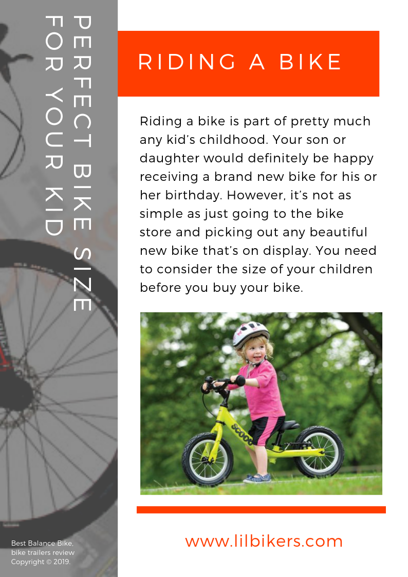 Tips On Choosing The Perfect Bike Size For Your Kid Bike Kids