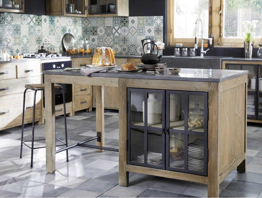 lot central en pin recycl copenhague en 2019 maisons du monde ilots central cuisine ilot