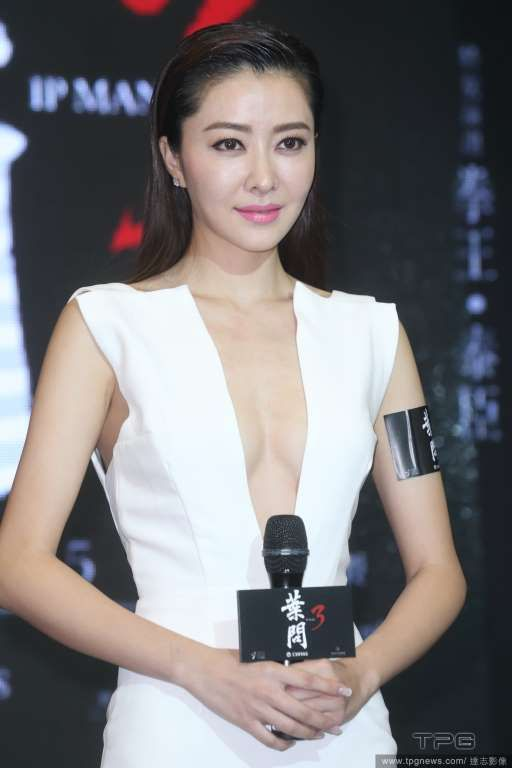 Lynn Hung attends the presentation of Ip Man 3 trailer