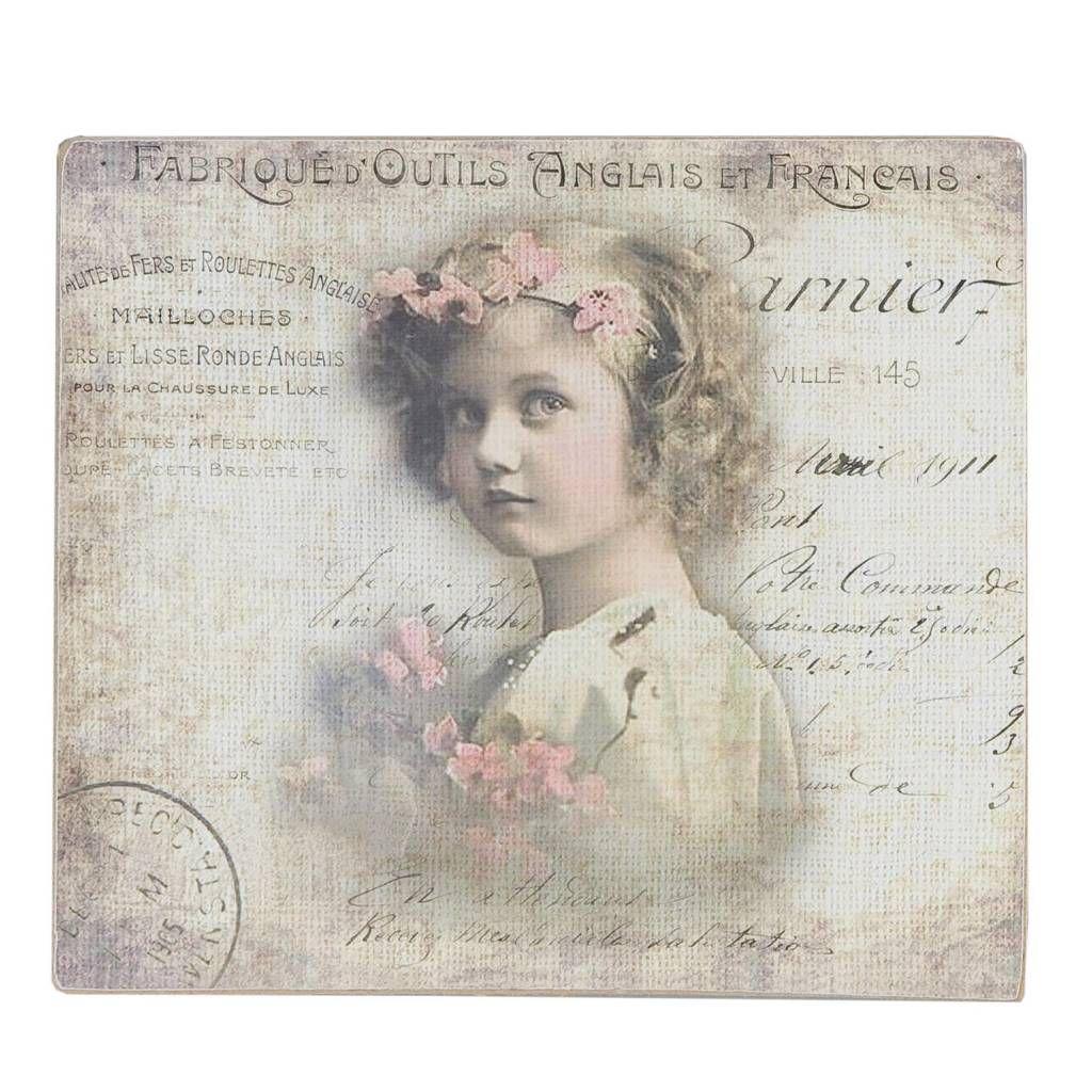 Clayre & Eef Schilderij meisje