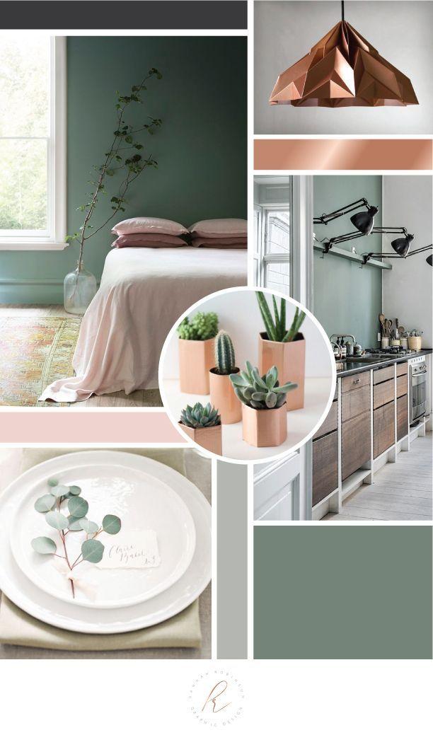 Sage Copper Blush Gray Branding Mood Board Branding Mood