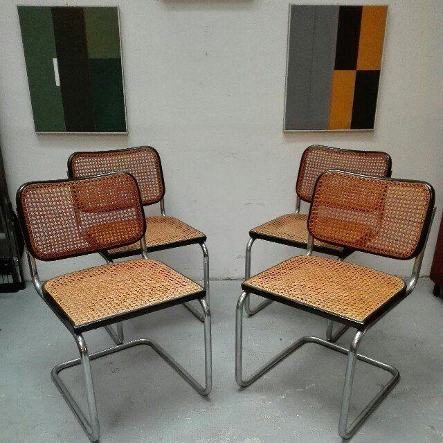 400 set di 4 sedie cesca gavina originali nulla da for Sedie design anni 80