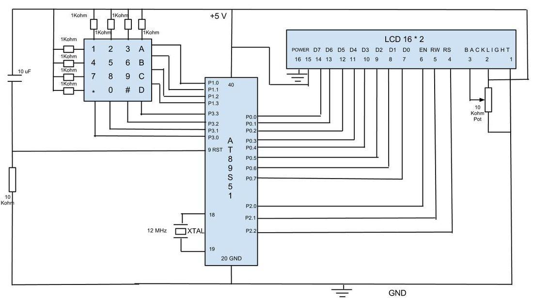 Diagram 4x4 Keypad Arduino Tutorial Keypad-Everything You
