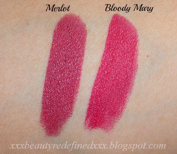 Want Both Ambernyx Matte Lipsticks Merlot And Bloody Mary