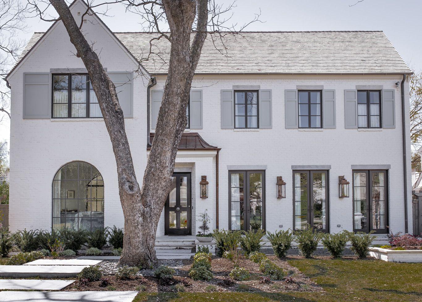 White Brick Exterior Modern Farmhouse