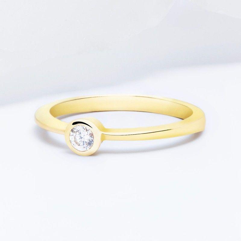 Anillo De Compromiso Diamante En Oro 74a0006 Argyor Talla 7 Tipo