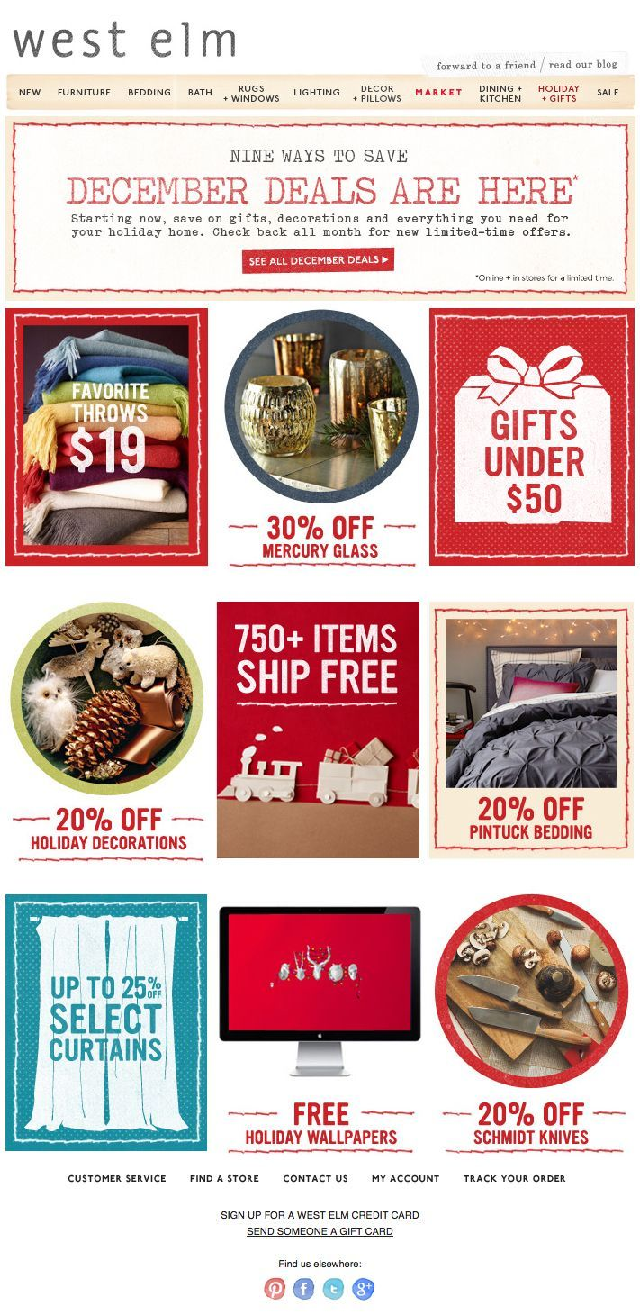 West Elm Promo Holiday Kitchen Email Design Inspiration Decor Market