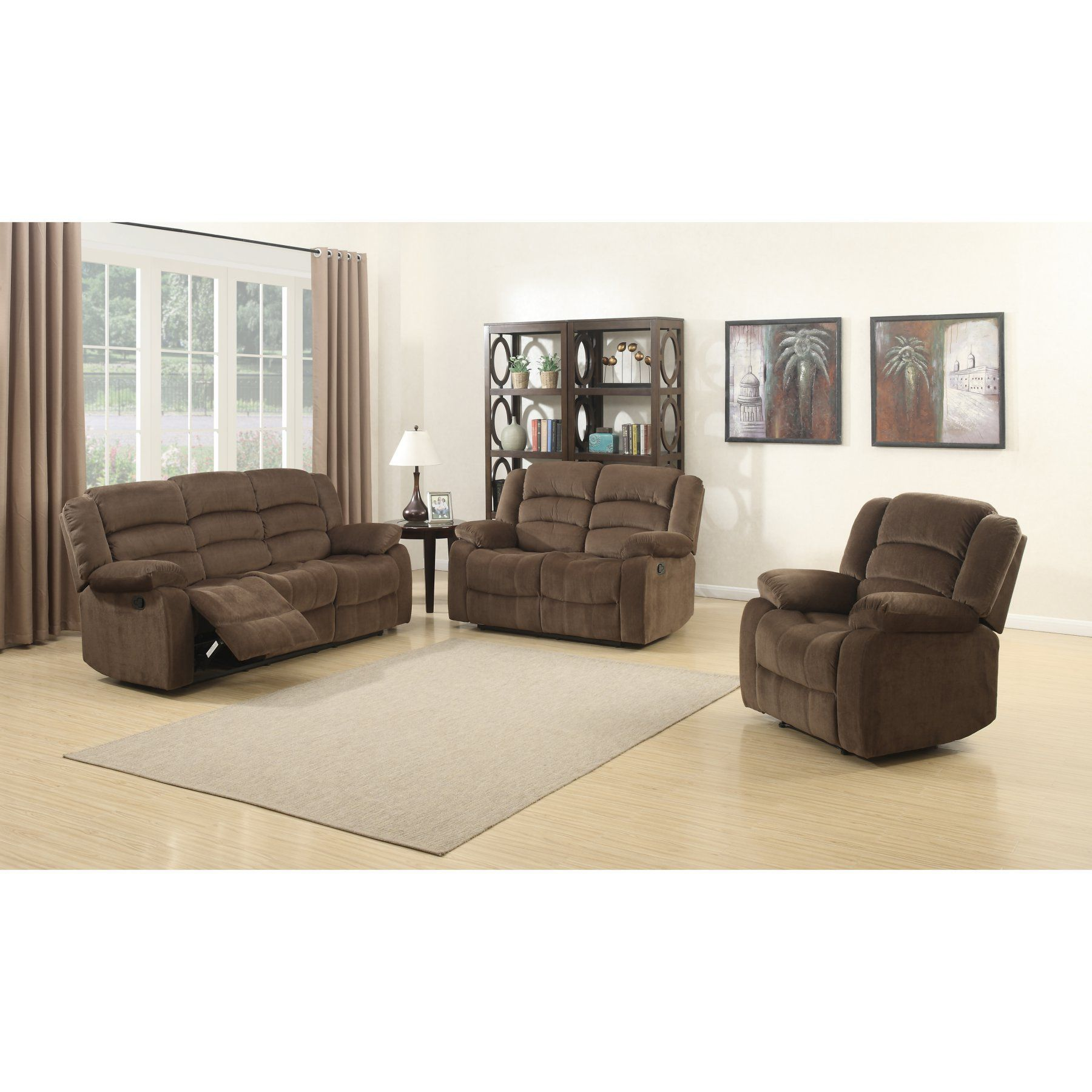 Christies Home Living Bill Collection 3 Piece Living Room Sofa Set ...