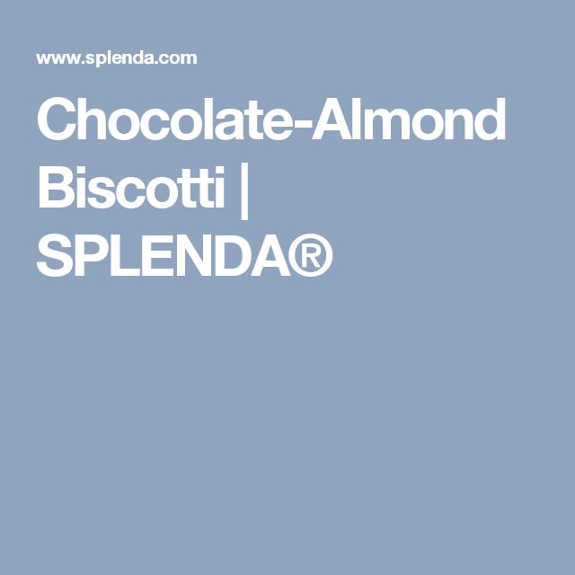 Chocolate-Almond Biscotti | SPLENDA®