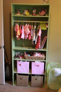 Bookshelf Turned Into Babys Closet Dresser Nursery In
