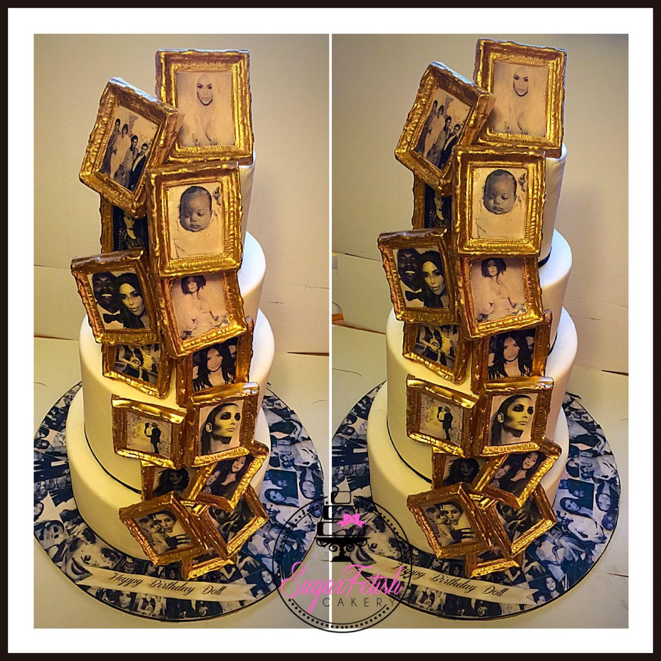 Kim Kardashian fan themed birthday cake Themed birthday