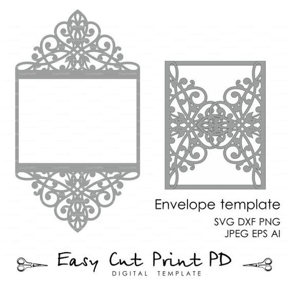 Wedding Invitation Pattern Card X Template By Easycutprintpd