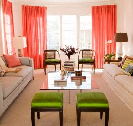 Coral Living Room Bedroom Color Blends Diy Decorating Ideas
